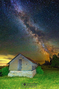 """Dreamland,"" The Milky Way over Harrison Idaho"