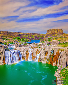 """Vibrant Waters,"" Shoshone Falls Sunset, Twin Falls, Idaho"