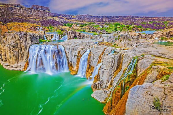 """Emerald Rainbow,"" Shoshone Falls, Idaho"