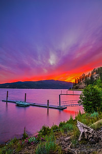 """Evening Dream,"" Lake Coeur d'Alene Sunset, Harrison, Idaho"