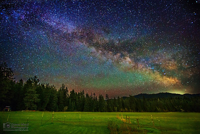 """Starry Pastures,"" the Milky Way over a Farm in Harrison, Idaho"