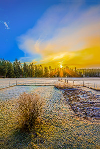 """Sunrise on the Farm,"" Harrison, Idaho"