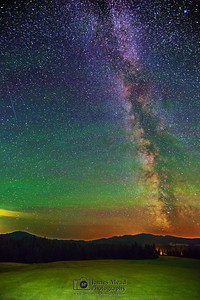 """The Farmer's Core,"" The Milky Way over the Coeur D'Alene National Forest, Idaho"
