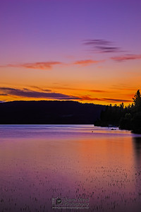 """Nature's Fireworks,"" 4th of July Sunset over Lake Coeur d'Alene, Harrison, Idaho"