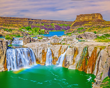 """Imagination's Playland,"" Shoshone Falls Rainbow, Twin Falls, Idaho"