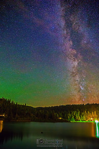 """Carlin Night Watch,"" the Milky Way over Lake Coeur d'Alene and Carlin Bay, Harrison, Idaho"