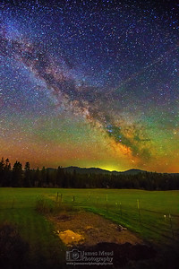 """Grandma's Garden,"" Milky Way over Grandma's Garden on the Farm, Harrison, Idaho"