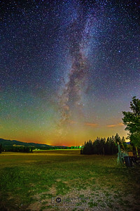 """Galactic Farmstead,"" the Milky Way over a farm in near Harrison, Idaho."