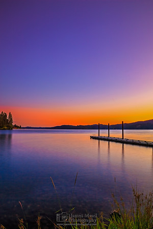 """""""Independence Day,"""" Sunset over Lake Coeur d'Alene on Independence Day (July 4th) , Harrison, Idaho"""