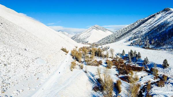 Trail Creek Aerial / Sun Valley, Idaho