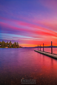 """Lakeside Paradise,"" Lake Coeur d'Alene Sunset, Harrison, Idaho"