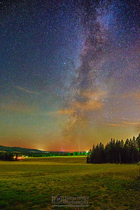 """Celestial Acres,"" the Milky Way over a farm in near Harrison, Idaho."