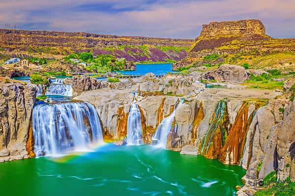 """Forgotten Giant,"" Rainbow at Shoshone Falls, Twin Falls, Idaho"