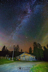 """The Farmer's Dream,"" The Milky Way over a Barn in Harrison Idaho"