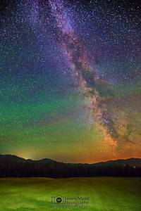 """Night on the Farm,"" The Milky Way over the Coeur D'Alene National Forest, Idaho"