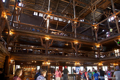 Yellowstone Inn, lots of Lodgepole Pine used in construction