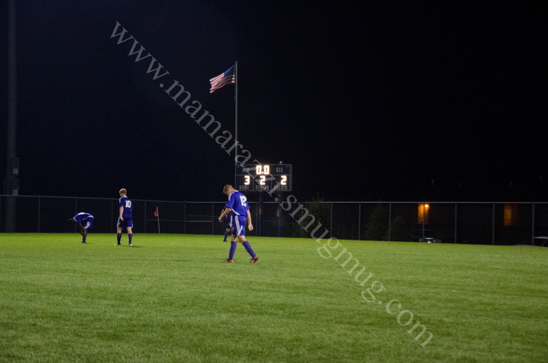 Final Score in the game of Brownsburg vs Harrison High School Soccer