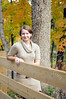 fence with autumn color - Happy Hollow Park West Lafayette