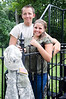 Sweetheart Photo - Aperture f/7.1 - Nikon D7000 - pose couple on wrought iron fence - Battleground Indiana
