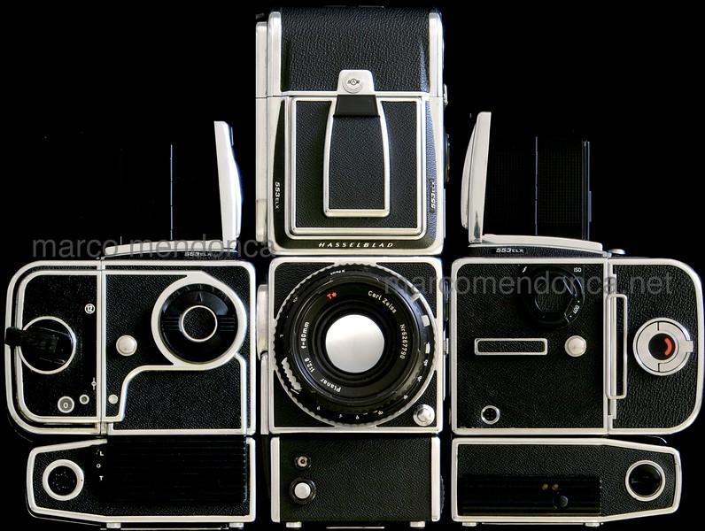 """HASSELBLAD 553 ELX, médio formato: 6x6 (fotomontagem) <br /> <br /> parte integrante de """"Análise analógico digital (fotografia)"""".<br /> <br /> mesmo depois de tudo isso, continua a funcionar perfeitamente...<br /> ... a classic workhorse!"""