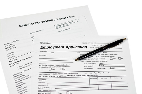 Employment Application with a Drug Test Consent Form