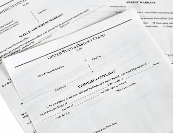 Criminal Complaint Court Papers