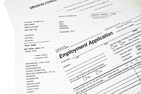 Employment Application with a Drug Abuse Panel