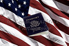 US Passport and American Flag