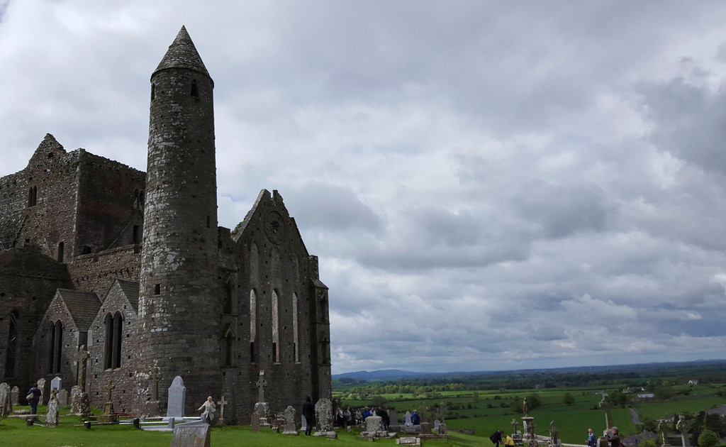 The Rock of Cashel is the historic seat of power of the Kings of Munster.  In 445, St. Patrick was sent by the Pope to bring Christianity to the pagan Irish.  When he arrived at Cashel, it had been the home base of the Munster Kings for hundreds of years.<br /> <br /> Cashel epitomizes so much about Irish history.  For centuries, it served as the center for Celtic kings for an enormous region of Ireland.  It was one of the early places where Christianity took hold.  St. Patrick baptised King Aengus, King of Munster, near Cashel in about 450 A.D.  The site was donated to the Church in 1101 and the round tower was the first surviving structure.  Oliver Cromwell's troops burned the defenders of Cashel in the Round Tower at the Cathedral in the 1650s.<br /> <br /> What a great place to begin our Irish journey.