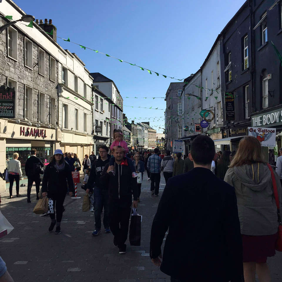 Shop Street in Galway is THE place to be.  We had a fun time exploring the older part of the city.  We found our spots for Irish music that night and we enjoyed a beautiful concert with a choir in a medieval church built in 1320.