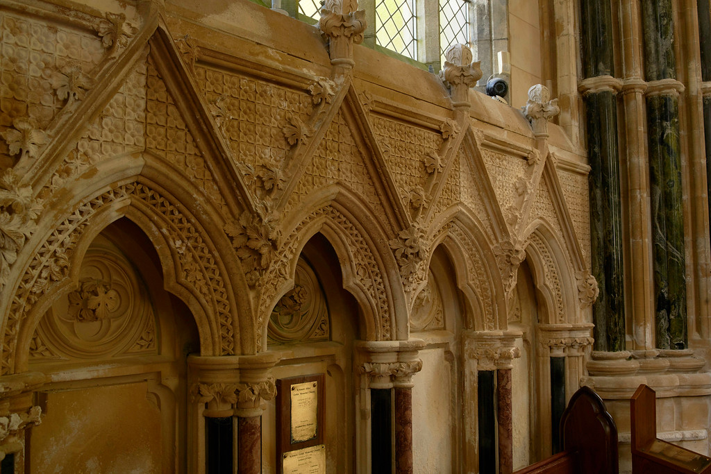 The stonework inside is incredible.  The craftmanship was so intricate, the edges were sharp.