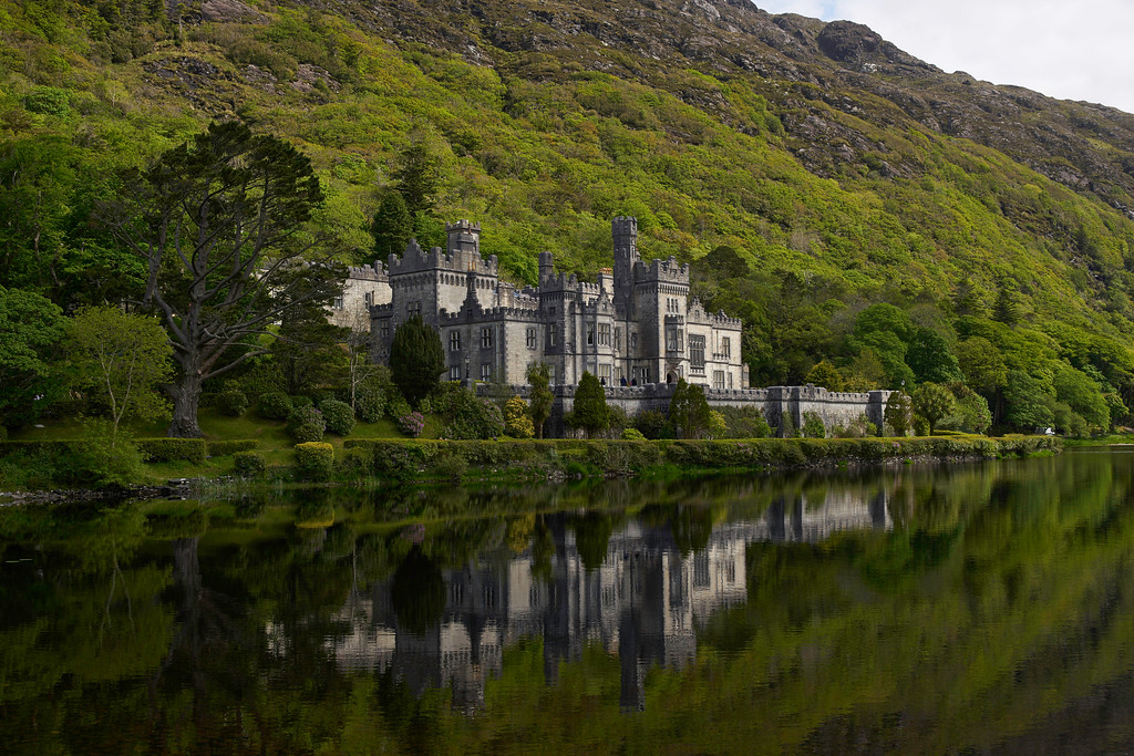The next morning, we were headed for Dublin but not before a stop at the magnificent Kylemore Abbey.  Located across from the main entrance to the Connemara National Park, Kylemore Abbey is amazing.
