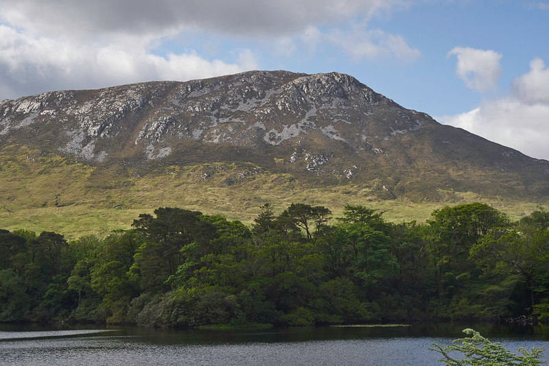 The mountains of the Connemara from the beautiful Kylemore Abbey.