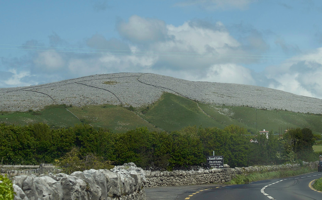 So after the Cliffs, it was back in the coach and off for Galway through the Burren.  The rocky hills are the essence of the Burren.  The lines going up the hills are walls was the Irish were forced to build by Oliver Cromwell's army in the 1650s.  They served no useful purpose - just forced labor for the Irish.