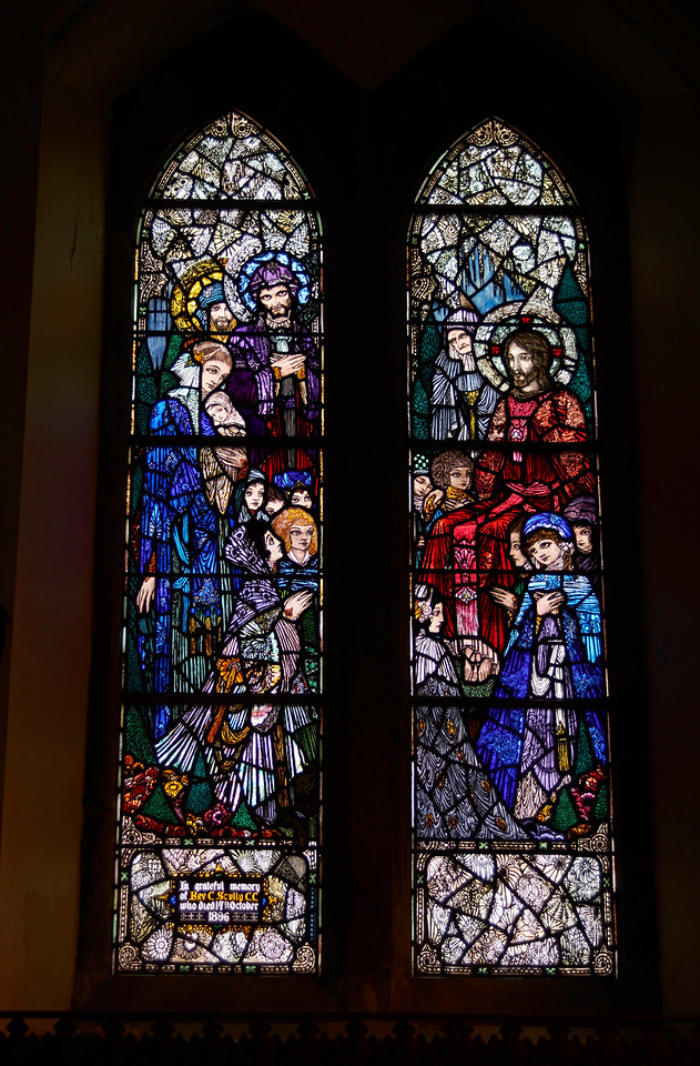 One of the beautiful Harry Clarke windows at the Díseart Centre.
