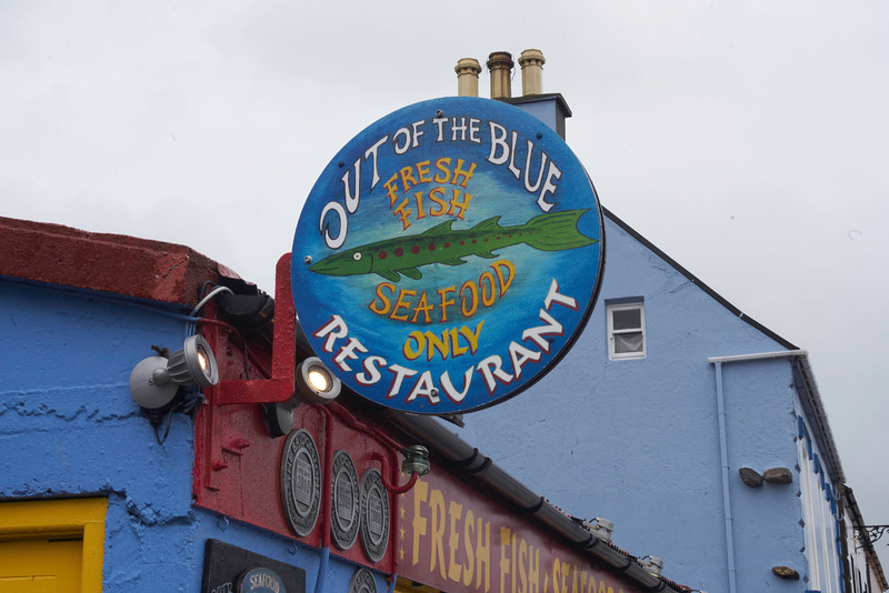 Located at the Marina in Dingle, if they don't have fresh fish, they are not open.  What a terrific restaurant!     It did not disappoint.<br /> <br /> We had a great dinner at Dingle's Out of the Blue.