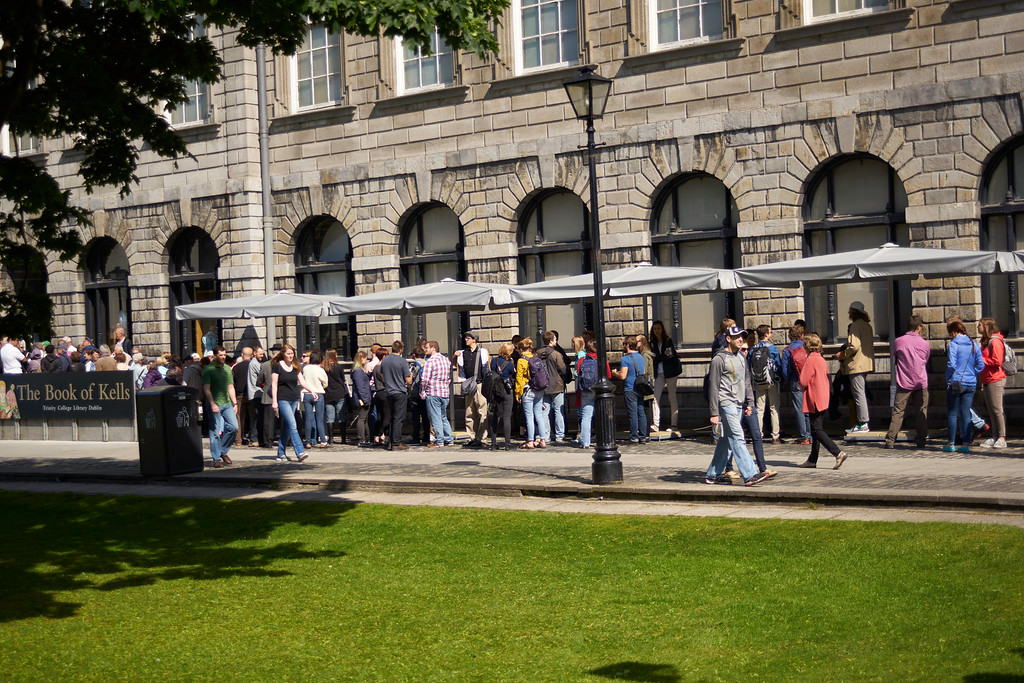 The line for the Book of Kells Exhibit and the Long Room in the Old Library were long but both were more than worth the wait.