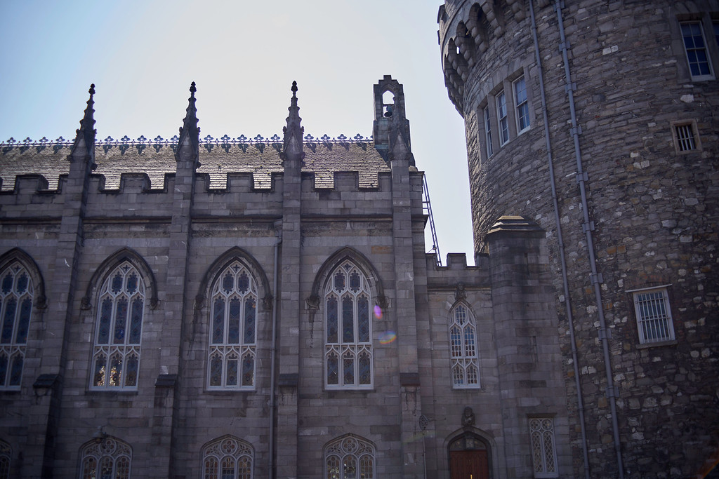 The turret is part of the original walls of Dublin Castle.