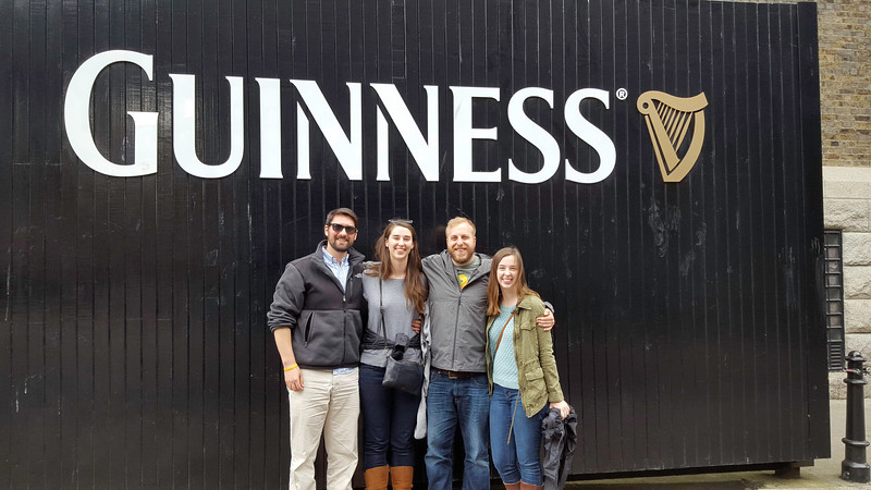 The very first stop when we got to Dublin, even before the hotel, was the Guinness Brewery