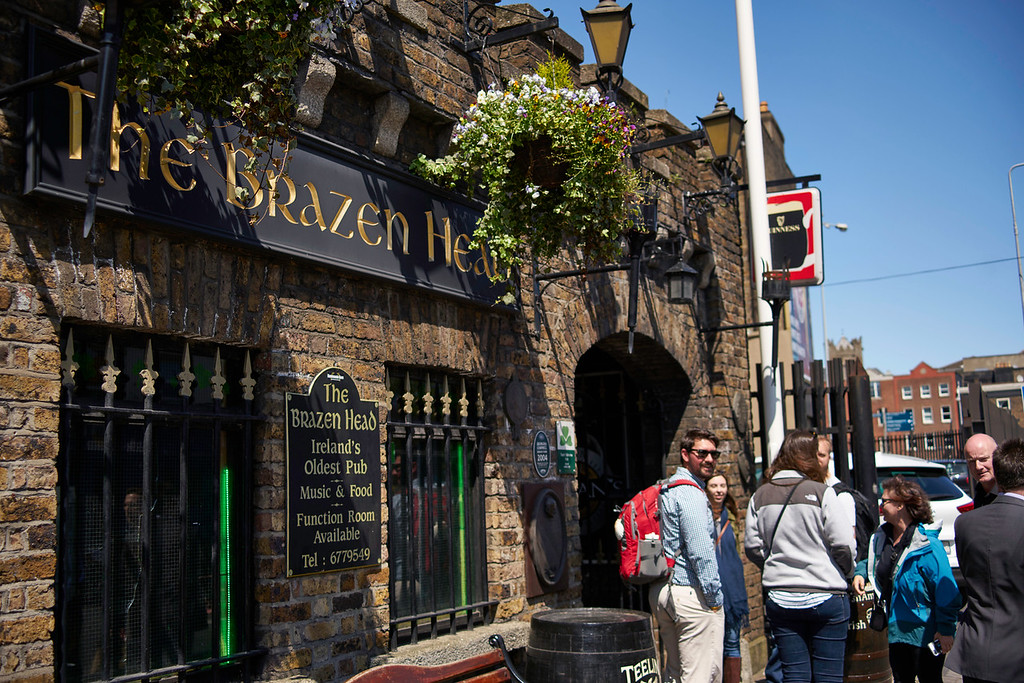 The Brazen Head Pub is the oldest pub in Ireland dating back to the early 1100s.  It was also the ending point of our walking tour.