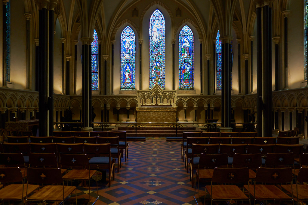 St. Patrick's was beautiful.  The Cathedral was founded in 1191 and is the largest church in Ireland.  By the 1800s, the Cathedral was is serious disrepair.  Portions of the Cathedral were in ruins. In the 1860, about the time of the American Civil War, Sir Benjamin Guinness, head of the famous brewery, agreed to undertake at his own expense the restoration of St. Patricks's Cathedral.  Guinness, whose father had died in 1855 was the richest person in Ireland having inherited the Guinness Brewery from his father, spent £150,000 to restore the Cathedral.