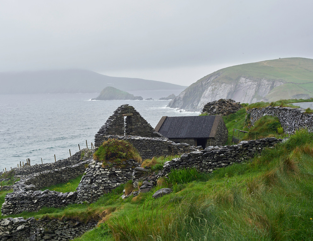 My trip with Des out to Slea Head at the end of the Dingle Peninsula is one of my favorite parts of the trip.  Unfortunately, we were only in Dingle for a day and we just scratched the surface on all of the things to see in Dingle and the surrounding area.  The beehive huts were fascinating and this is an excellent example, probably still being used today.