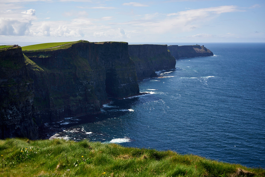 The Cliffs of Moher were a huge highlight of the trip.  The Cliffs were a stop on the trip from Dingle to Galway.  There were a lot of people there.  It is, after all, the #1 tourist spot in the entire country.  But it was so worth it and what a glorious day to be there!