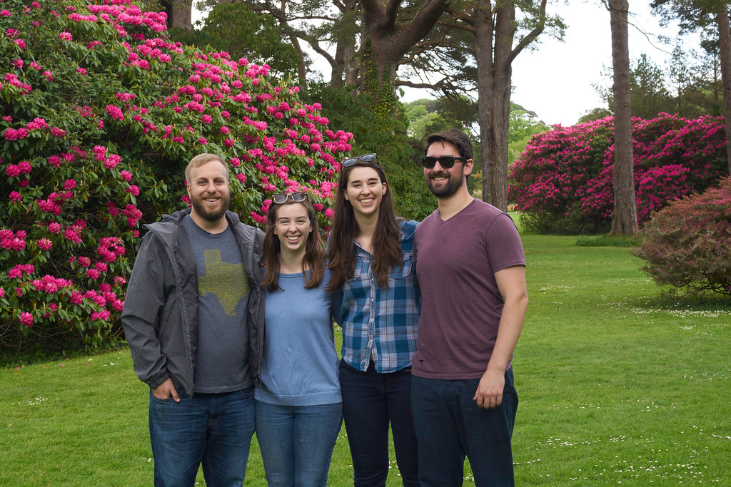 This is one of my favorite group pictures mostly because everyone really enjoyed the hike through the woods surrounding Muckross and the grounds and it shows the massive rhododendrons of Muckross in the Killarney National Park.