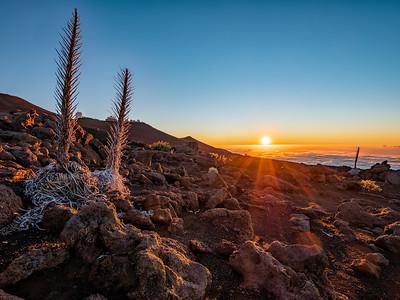 Sunset at the top of Haleakala  National Park