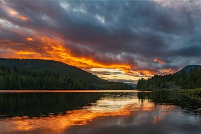 Inland Lake Sunset