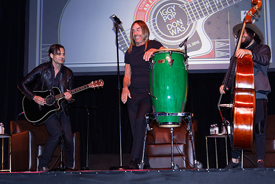 Iggy Pop, Don Was, Dean Fertita_Living Histories at The Majestic Theater in Detroit on 10-23-16.  Photo credit: Ken Settle