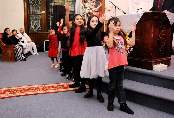 Don Knight | The Herald Bulletin<br /> Opening service for Iglesia de Dios La Hermosa on Saturday.