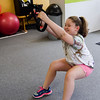 Kelly Healy, 9, works out at Ignite Fitness Performance, which recently moved to Lunenburg. SENTINEL & ENTERPRISE / Ashley Green