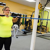 Bobby Jo Cartee works out at the Ignite Fitness Performance, which recently moved to Lunenburg. SENTINEL & ENTERPRISE / Ashley Green